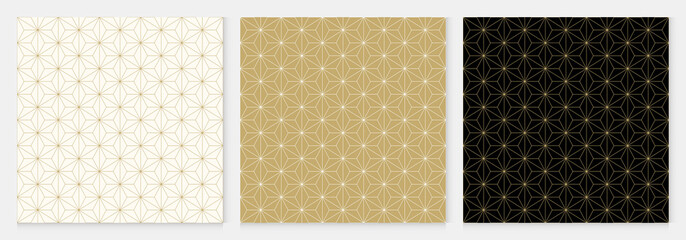Background pattern seamless cube and triangle abstract gold luxury color geometric vector.
