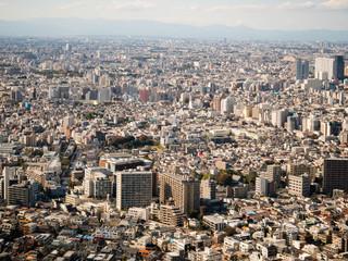 Tokyo cityscape as seen from the Tokyo Metropolitan Government Building in Shinjuku