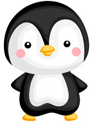 a vector of a cute and adorable penguin