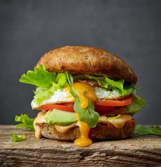 fresh vegetarian burger