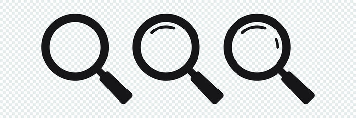 Search icon. Magnifying glass icon, vector magnifier or loupe sign. Wall mural