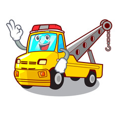 Okay truck tow the vehicle with mascot