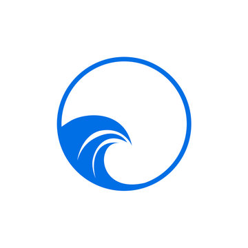 Water Waves logo Design Vector Template, Water Waves Icon, Water Waves Logo