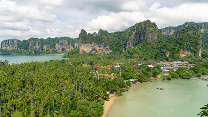 A view on Railay beach from a height, Krabi, Thailand