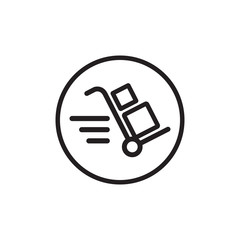 Flat cargo vector icon