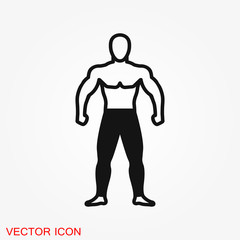 Body icon in flat minimal design. Concept illustration for web site. Sign, symbol, element.