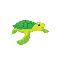 Cute vector sea turtle illustration.