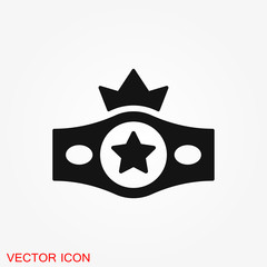 Boxing icon, equipment and sport vector graphics, symbol on a background