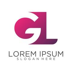 Letter GL logo design