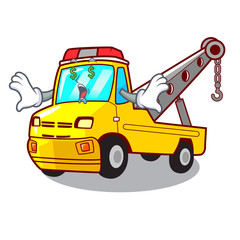 Money eye tow truck for vehicle branding character