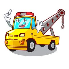 Finger tow truck for vehicle branding character
