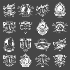 Vintage gentleman club logotypes collection