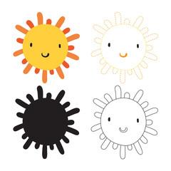 sun worksheet vector design