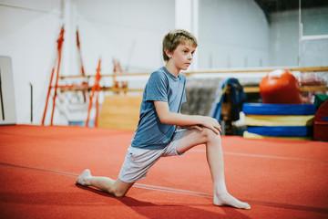 Aluminium Prints Gymnastics Young gymnast stretching