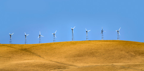 wind generators on the hills of San Francisco