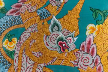Gemälde an einer Tempeltüre
