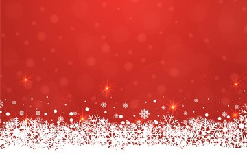 Christmas vintage vector background with stars, snowflakes and sparkles. Sparkling bokeh background banner template, poster, invitation, greetings.