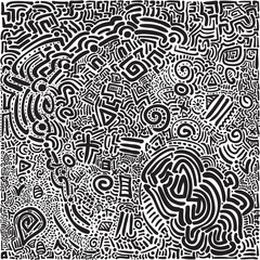 Abstract scribble Hand drawn scrawl sketch Сhaos doodle pattern