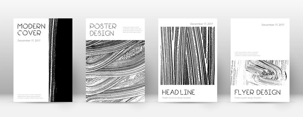 Cover page design template. Minimal brochure layou