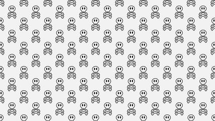 Skull background Halloween seamless pattern