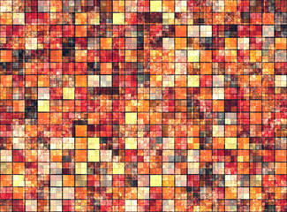 Bright background with mosaic pattern