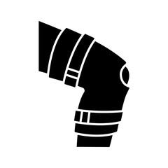 Knee brace glyph icon