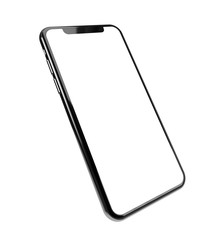 Smartphone frame less blank screen