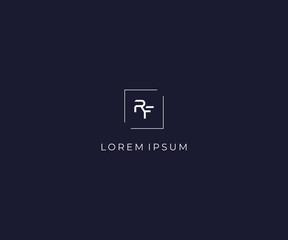 letter RF logo design template