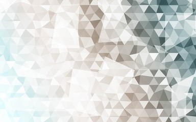Banner of polygonal elements. Gradient triangles. Vector illustration. For design, presentations