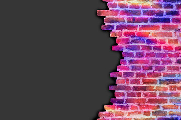 Psychedelic Broken Wall Background