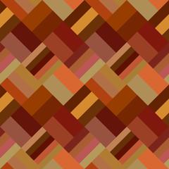 Colorful geometric diagonal rectangular tile mosaic pattern background - seamless graphic