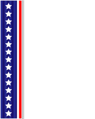 US flag ribbon decoration frame with blank space for your text.