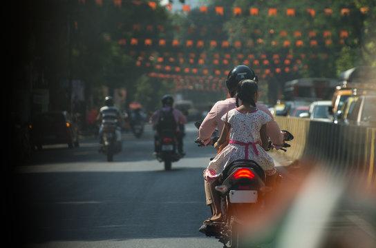Motorcyclists on Mumbai Street