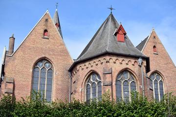church in Zeebrugge, Belgium