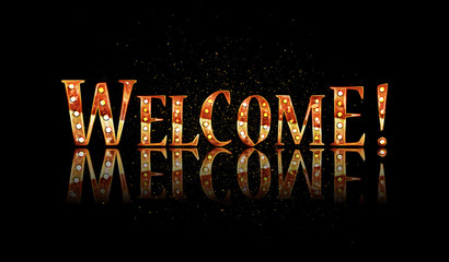 Welcome text lettering