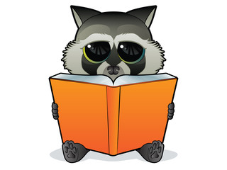 Book Reading Racoon