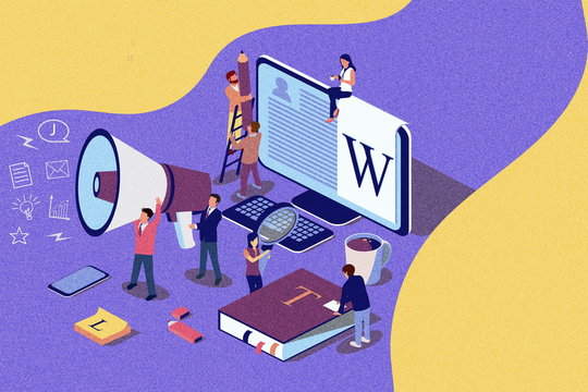 Creative Blogging isometric illustration concept, people learning about creative blogging or copywriting can use for web page, banner, presentation, social media, documents. Noise texture