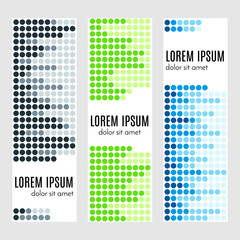 Set of abstract vertical header banners