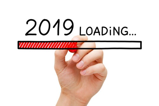 New Year 2019 Loading Concept