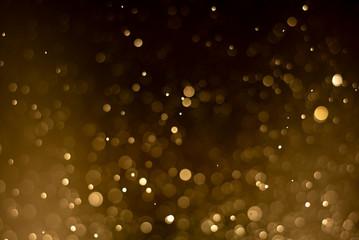Gold bokeh background,Bright, Beautiful.