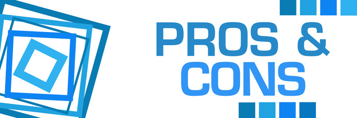 Pros And Cons Blue Borders Left