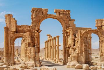Palmyra, Syria - Ruins Old Greco Roman Wall mural