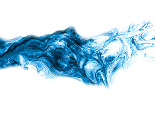 Blue creative abstract hand painted background.