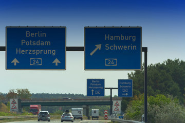 Autobahn sign in Germany
