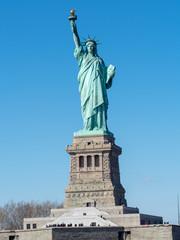 Statue of Liberty from Cruiser at Manhattan, New York City