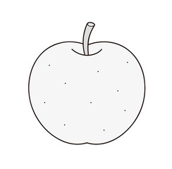 梨 モノクロ グレースケール