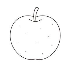 梨 ぬりえ 線画