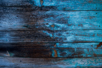 old blue wooden wall