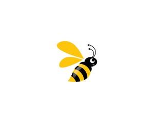 Bee logo vector icon illustration