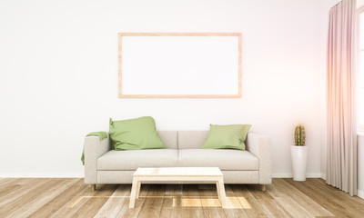 frame mockup on living room